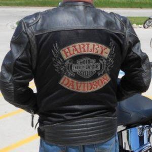 Harley Davidson Jackets Coats Mens Knuck Patch Mesh Leather